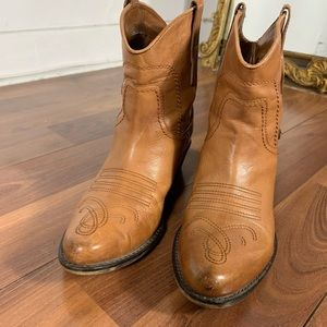 Franco sarto leather cowboy style ankle boots
